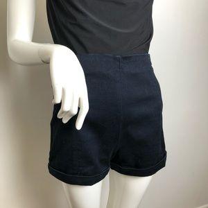 Harlow Stretch Dark Denim Shorts High Rise